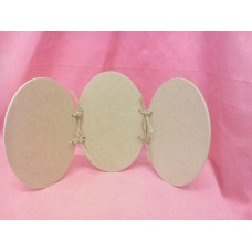 4mm MDF Oval trio Plaque 145mm